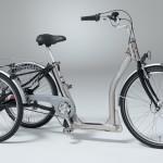 Dreirad Alluminio in Alu mattiert - schwarz
