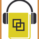 Ein Buch mit gelben Einband mit Squaredance-Logo dem ein geschlossener Kopfhörer aufgesetzt ist.